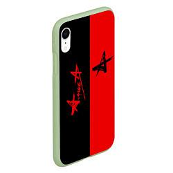 Чехол iPhone XR матовый АлисА цвета 3D-салатовый — фото 2