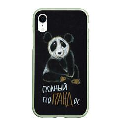 Чехол iPhone XR матовый Полный поПАНДос цвета 3D-салатовый — фото 1