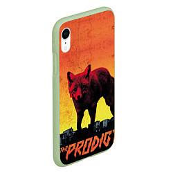 Чехол iPhone XR матовый The Prodigy: Red Fox цвета 3D-салатовый — фото 2