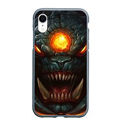 Чехол iPhone XR матовый Roshan Rage цвета 3D-серый — фото 1