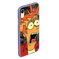 Чехол iPhone XR матовый Frai Horrified цвета 3D-серый — фото 2