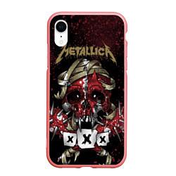 Чехол iPhone XR матовый Metallica: XXX цвета 3D-баблгам — фото 1