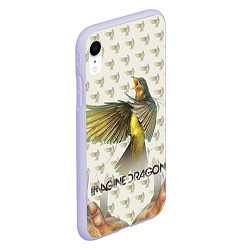 Чехол iPhone XR матовый Imagine Dragons: Fly цвета 3D-светло-сиреневый — фото 2