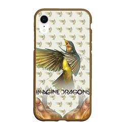 Чехол iPhone XR матовый Imagine Dragons: Fly цвета 3D-коричневый — фото 1