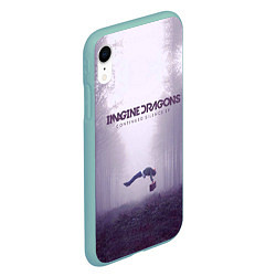 Чехол iPhone XR матовый Imagine Dragons: Silence цвета 3D-мятный — фото 2