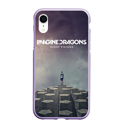 Чехол iPhone XR матовый Imagine Dragons: Night Visions цвета 3D-светло-сиреневый — фото 1
