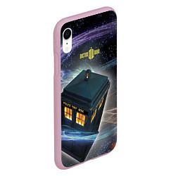 Чехол iPhone XR матовый Police Box цвета 3D-розовый — фото 2