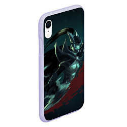 Чехол iPhone XR матовый Phantom Assassin цвета 3D-светло-сиреневый — фото 2