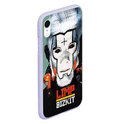 Чехол iPhone XR матовый Limp Bizkit: Faith Face цвета 3D-светло-сиреневый — фото 2