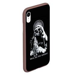 Чехол iPhone XR матовый BMTH: Skull Pray цвета 3D-коричневый — фото 2