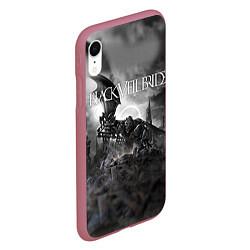 Чехол iPhone XR матовый Black Veil Brides: Faithless цвета 3D-малиновый — фото 2