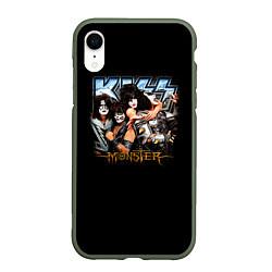Чехол iPhone XR матовый Kiss Monster цвета 3D-темно-зеленый — фото 1