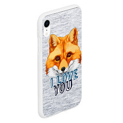 Чехол iPhone XR матовый Милая лисичка! цвета 3D-белый — фото 2
