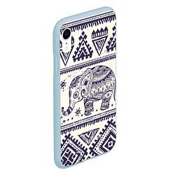 Чехол iPhone XR матовый Африка цвета 3D-голубой — фото 2