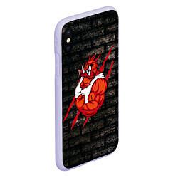 Чехол iPhone XS Max матовый Кабан-качок цвета 3D-светло-сиреневый — фото 2