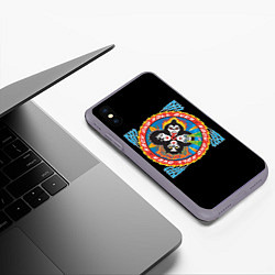 Чехол iPhone XS Max матовый KISS: Over цвета 3D-серый — фото 2