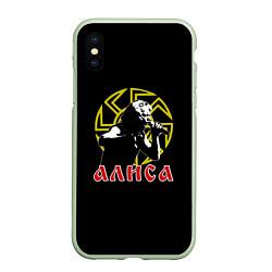 Чехол iPhone XS Max матовый АлисА: Коловрат цвета 3D-салатовый — фото 1