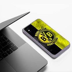 Чехол iPhone XS Max матовый Borussia Dortmund цвета 3D-серый — фото 2