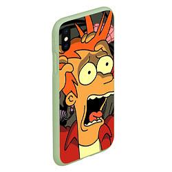 Чехол iPhone XS Max матовый Frai Horrified цвета 3D-салатовый — фото 2