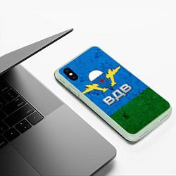 Чехол iPhone XS Max матовый Флаг ВДВ цвета 3D-салатовый — фото 2