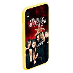 Чехол iPhone XS Max матовый Bullet for my valentine цвета 3D-желтый — фото 2