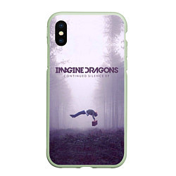 Чехол iPhone XS Max матовый Imagine Dragons: Silence цвета 3D-салатовый — фото 1