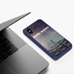 Чехол iPhone XS Max матовый Imagine Dragons: Night Visions цвета 3D-тёмно-синий — фото 2