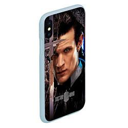 Чехол iPhone XS Max матовый Доктор кто цвета 3D-голубой — фото 2