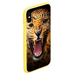 Чехол для iPhone XS Max матовый с принтом Рык леопарда, цвет: 3D-желтый, артикул: 10065043705907 — фото 2
