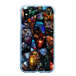 Чехол iPhone XS Max матовый Dota 2: All Pick цвета 3D-голубой — фото 1