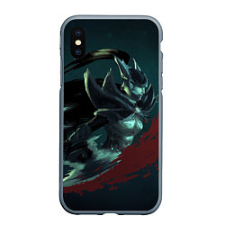 Чехол iPhone XS Max матовый Phantom Assassin цвета 3D-серый — фото 1