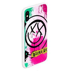 Чехол iPhone XS Max матовый Blink-182: Purple Smile цвета 3D-белый — фото 2