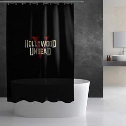 Шторка для душа Hollywood Undead V цвета 3D-принт — фото 2