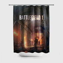 Шторка для душа Battlefield War цвета 3D-принт — фото 1