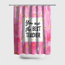 Шторка для душа Лучший учитель цвета 3D-принт — фото 1
