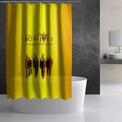 Шторка для душа Bon Jovi Band цвета 3D — фото 2