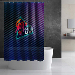 Шторка для душа Stay in the 80s цвета 3D-принт — фото 2