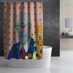 Шторка для душа Зигмунд Фрейд цвета 3D — фото 2