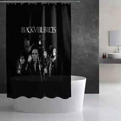 Шторка для душа Black Veil Brides цвета 3D-принт — фото 2