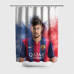 Шторка для душа Neymar FCB цвета 3D — фото 1