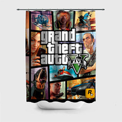 Шторка для душа GTA 5: City Stories цвета 3D — фото 1
