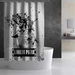 Шторка для душа Linkin Park цвета 3D — фото 2