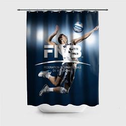 Шторка для душа Волейбол 4 цвета 3D-принт — фото 1