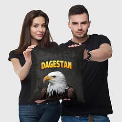 Подушка квадратная Dagestan Eagle цвета 3D-принт — фото 2