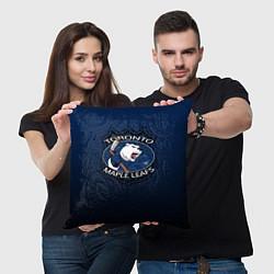 Подушка квадратная Toronto Maple Leafs цвета 3D-принт — фото 2