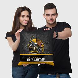 Подушка квадратная Boston Bruins цвета 3D-принт — фото 2