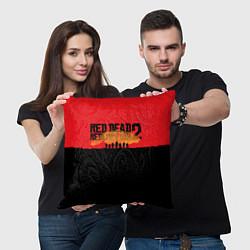 Подушка квадратная Red Dead Redemption 2 цвета 3D-принт — фото 2