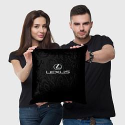 Подушка квадратная Lexus цвета 3D-принт — фото 2