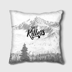 Подушка квадратная The Killers: Alpen цвета 3D-принт — фото 1