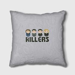 Подушка квадратная The Killers Boys цвета 3D — фото 1